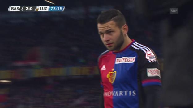 Video «Das Debüt von Renato Steffen im FCB-Trikot» abspielen