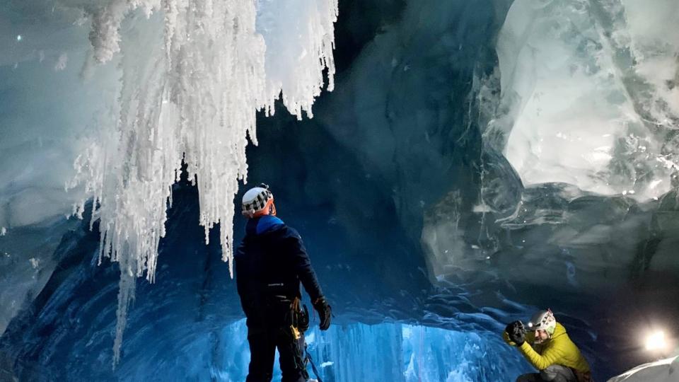 Expedition ins Innere eines Gletschers
