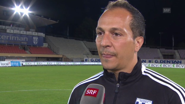 Video «Interview mit Lausanne-Trainer Gabriele» abspielen
