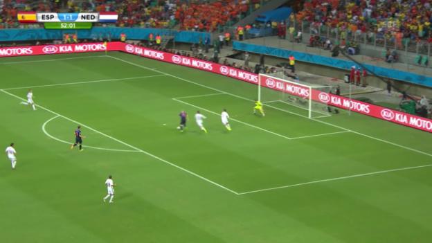 Video «Spanien - Holland, alle Gegentore von Spanien» abspielen