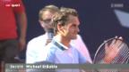 Video «Tennis: ATP Hamburg, Federer - Hajek» abspielen
