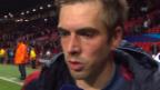 Video «Fussball: Champions-League-Viertelfinal, Manchester United - Bayern München, Interview mit Philipp Lahm» abspielen