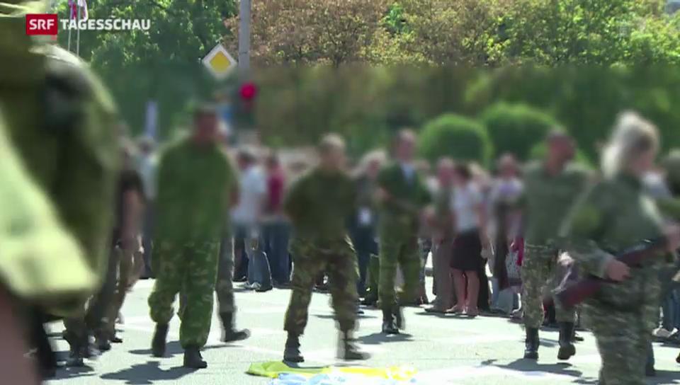 Gefangenenmarsch in Donezk
