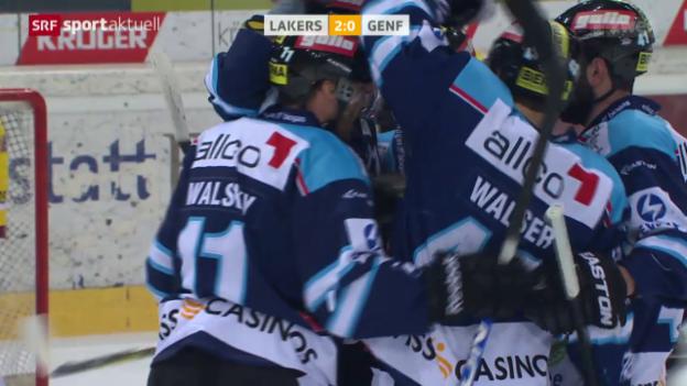 Video «Eishockey: Lakers - Genf» abspielen