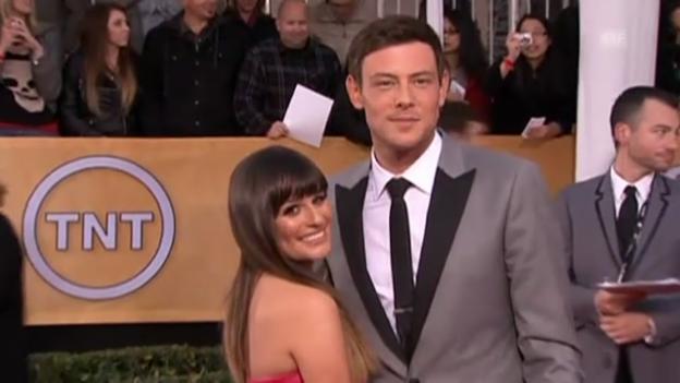 Video «Cory Monteith und Lea Michele auf dem roten Teppich (unkomm.)» abspielen