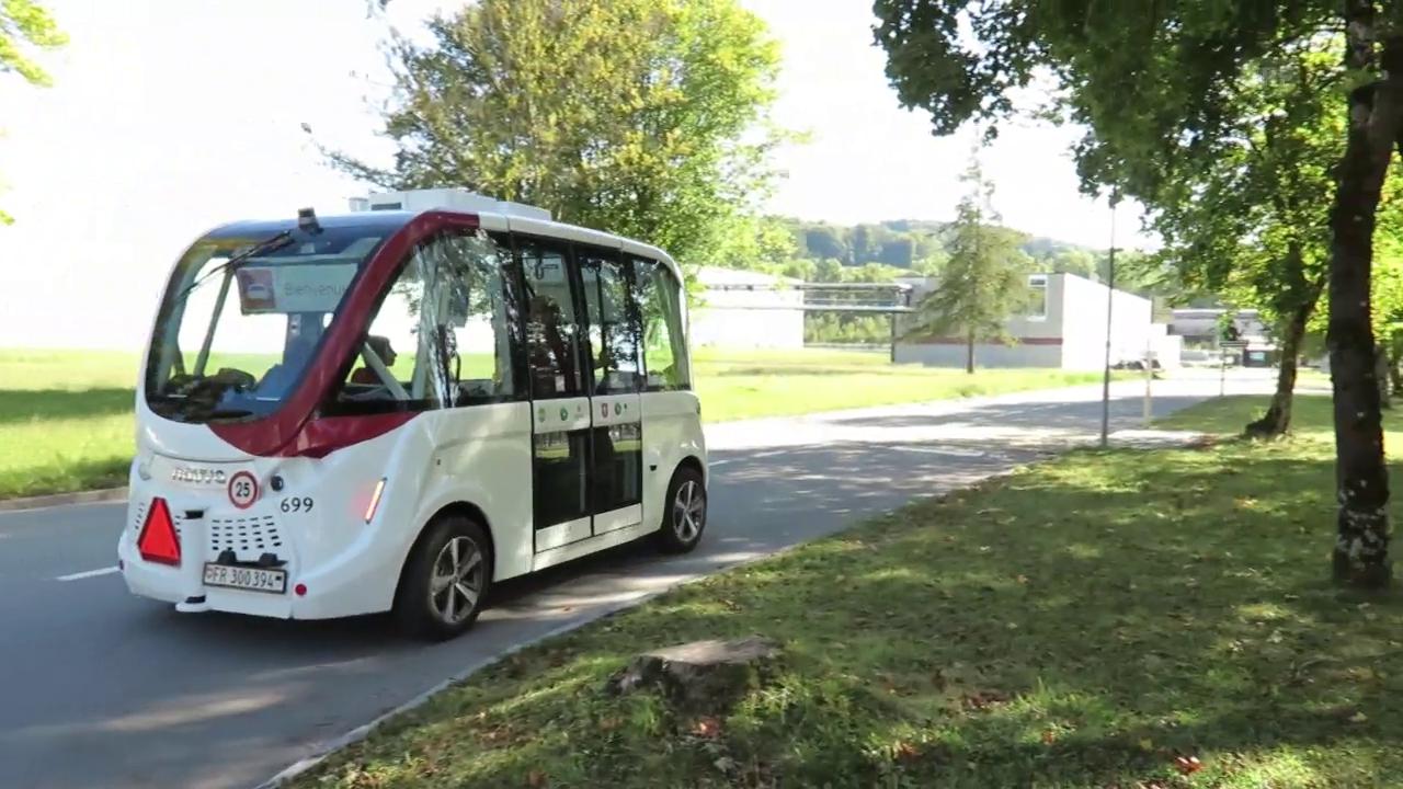 Selbstfahrender Bus in Freiburg
