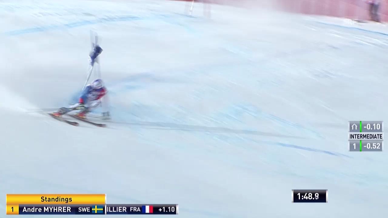 Ski alpin: Riesenslalom Männer Val d'Isère, 2. Lauf Gino Caviezel («sportlive», 14.12.2013)
