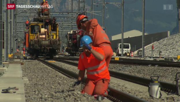 Video «Finale Phase am Gotthard-Basistunnel» abspielen