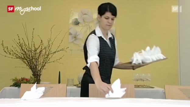 Video «Berufsbild: Restaurationsfachfrau EFZ» abspielen