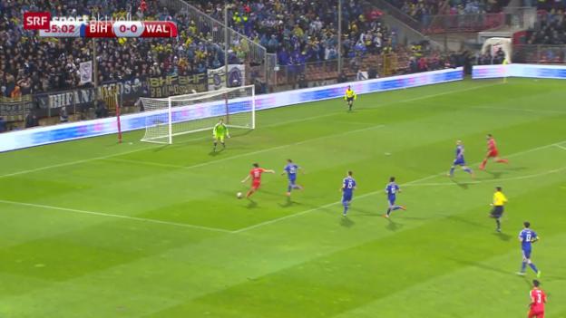 Video «Fussball: EURO-Quali, Bosnien-Wales» abspielen
