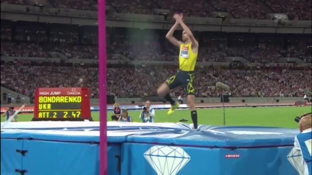 Video «Weltrekordversuch von Bondarenko («sportlive»)» abspielen