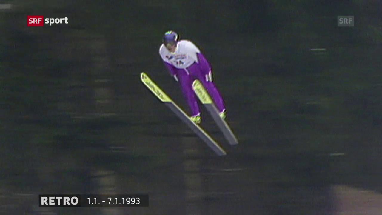 Blick ins Archiv: Kasai bei der Vierschanzentournee 1993