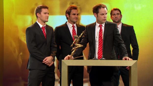 Video «Sports Awards: Davis-Cup-Team wird «Team des Jahres»» abspielen