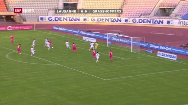 Video «Zusammenfassung Lausanne - GC («sportaktuell»)» abspielen