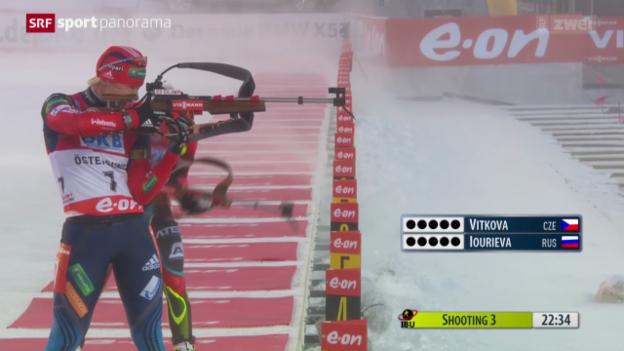 Video «Biathlon: Weltcup in Östersund» abspielen