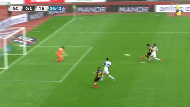 Video «Fussball: Super-League, Rückrunde, YB-GC, 1:0 Kubo» abspielen