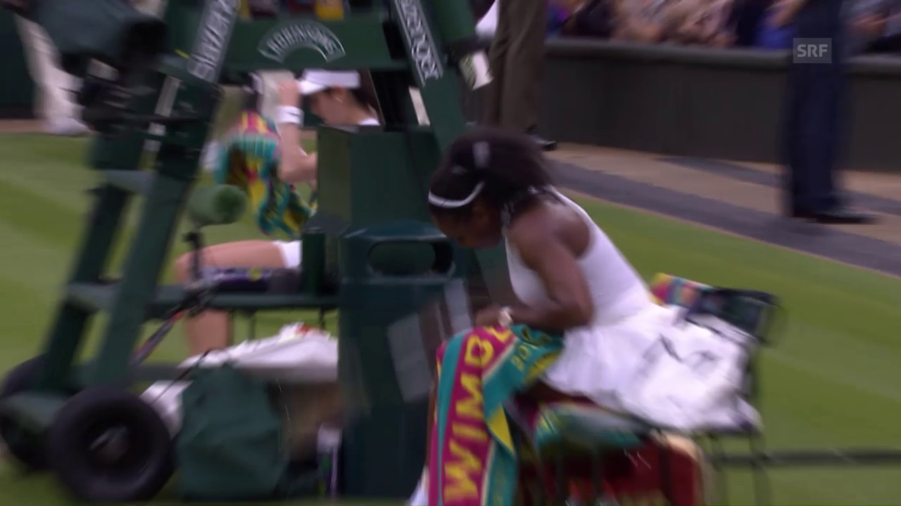 Serena Williams tobt nach Satzverlust