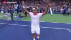 Video «Federer besiegt Wawrinka» abspielen