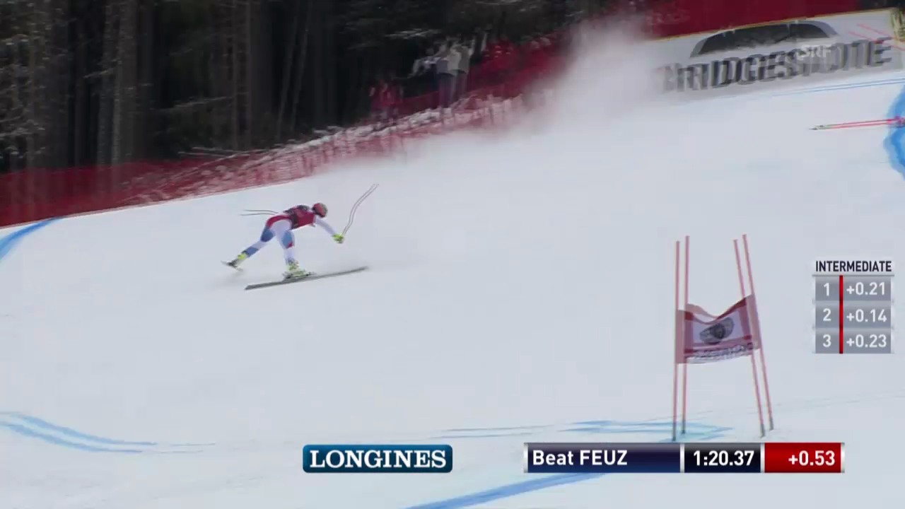 Ski: Abfahrt Männer Santa Caterina, Ausfall von Beat Feuz