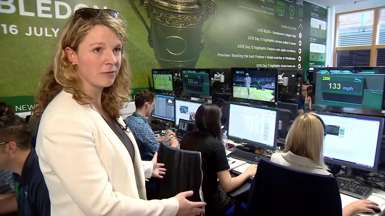 Ein Rundgang beim Social-Media-Team in Wimbledon (engl.)