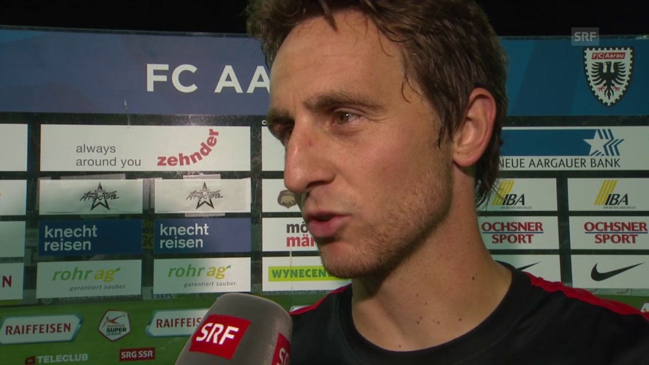 Fussball: Super League, Aarau - Basel, Interview Burki