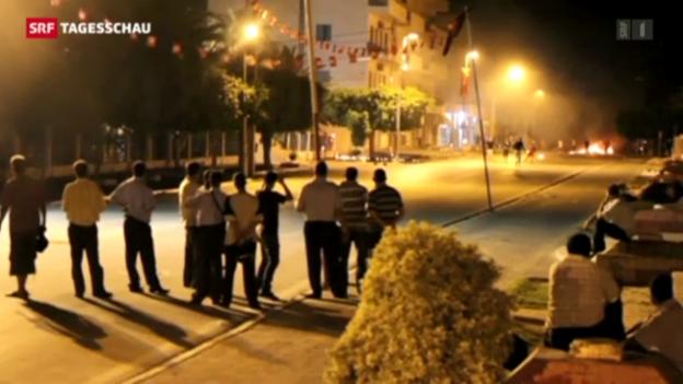 Video «Unruhen in Tunesien (Tagesschau vom 28.07.2013)» abspielen