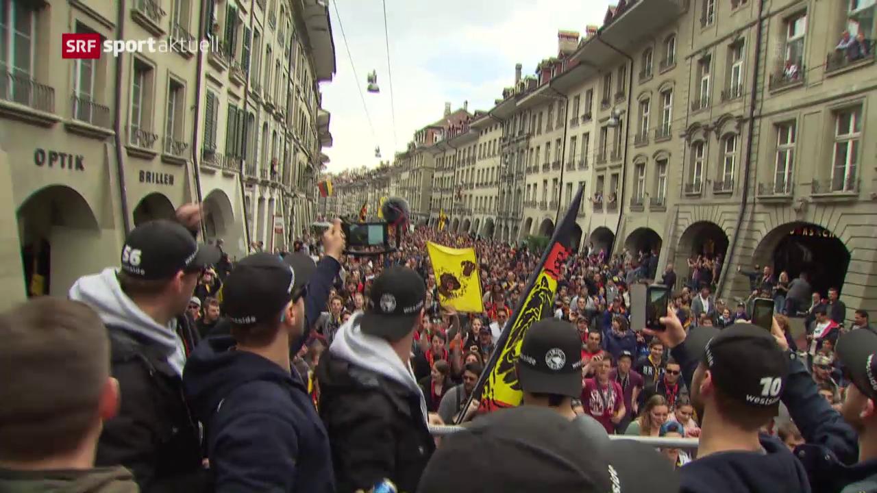So feiert der SCB den Meistertitel mit den Fans