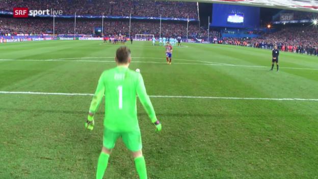 Video «Die Entscheidung im Penaltyschiessen zwischen Atletico und PSV» abspielen