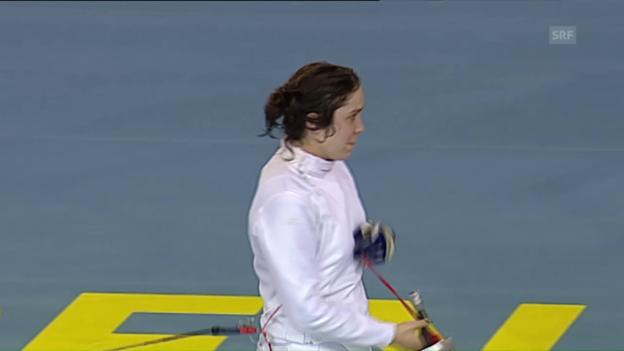 Video «Tiffany Géroudet hält dem Druck Stand (Quelle: EVS)» abspielen