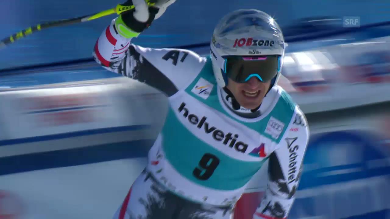 Ski: Weltcup der Männer, Abfahrt auf der Lenzerheide, Die Fahrt von Matthias Mayer (12.03.2014)