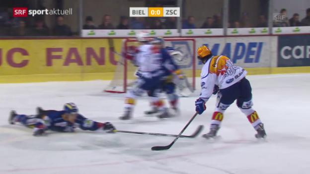 Video «Eishockey: NLA, Biel - ZSC Lions» abspielen