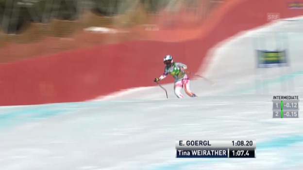 Video «SKI: Super-G-Lauf von Tina Weirather» abspielen