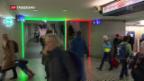 Video «SBB testet Einbahnverkehr auf Treppenabgang» abspielen
