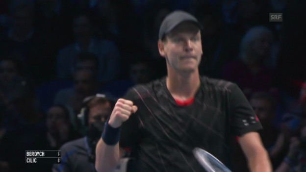 Video «Tennis: Berdych - Cilic, entscheidende Punkte» abspielen