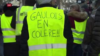 Video ««Les Gilets Jaunes» protestieren weiter» abspielen
