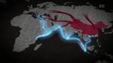 Video «Wirtschaftskorridore, Bahnlinien, Seewege: Darum geht es bei der neuen Seidenstrasse» abspielen