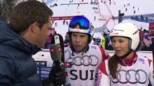 Video «Ski alpin: WM 2015 in Vail/Beaver Creek, Team-Event, Interview mit Wendy Holdener und Gino Caviezel» abspielen