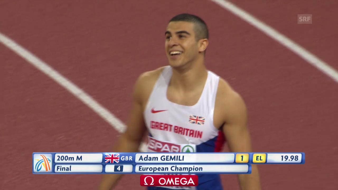 Leichtathletik-EM: Der 200-m-Final der Männer