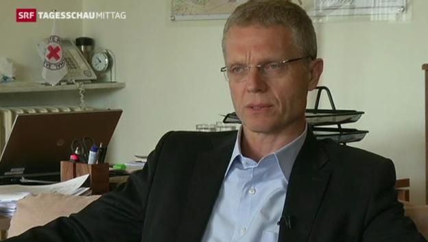 Video «Magne Barth vom IKRK: «Wir werden mit zusätzlichen Sicherheitsmassnahmen weiterarbeiten.»» abspielen