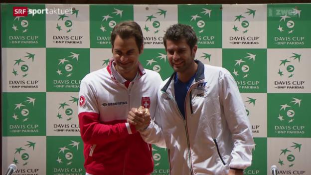 Video «Tennis: Davis Cup, Auslosung und Reaktionen» abspielen