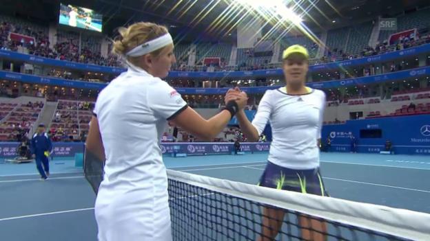 Video «Tennis: WTA Peking, Bacsinszky - Ivanoivc, die Live-Highlights» abspielen