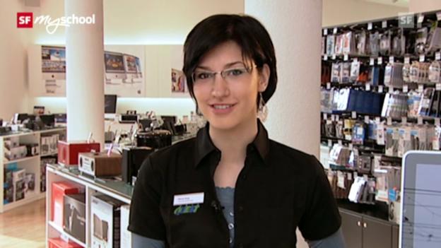 Video «Berufsbild: Detailhandelsfachfrau EFZ Consumer Electronics» abspielen