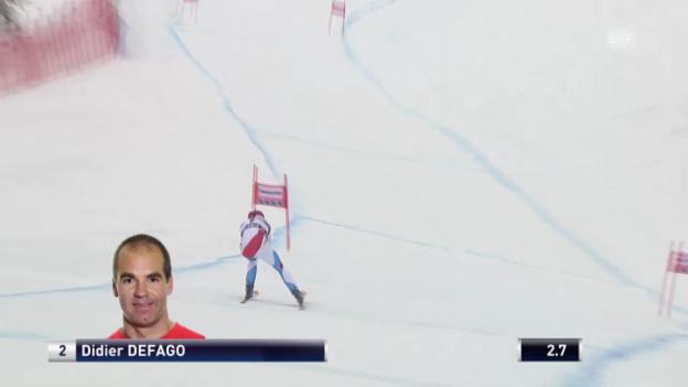 Video «Ski Alpin: Abfahrt Kvitfjell, Fahrt von Didier Défago («sportlive», 01.03.2014)» abspielen