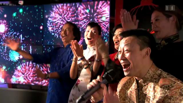 Donghua Li feiert chinesisches Neujahr