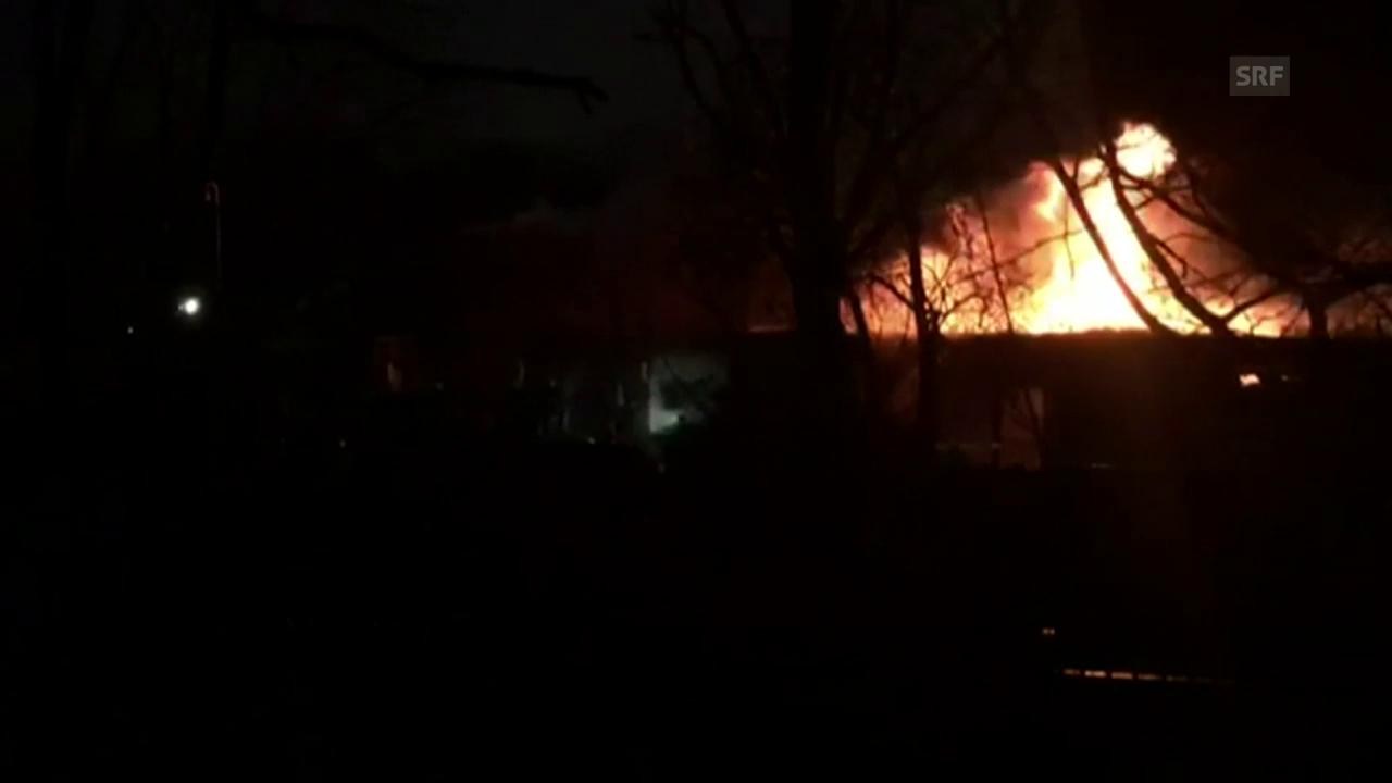 Feuer im Zoo von London
