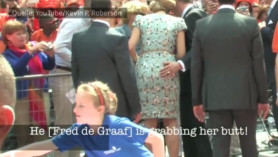 Königin Máxima: Vemeintlicher Po-Grapscher?