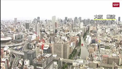 Link öffnet eine Lightbox. Video Mehrere Tote und über 200 Verletzte in Osaka abspielen