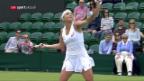 Video «Timea Bacsinszky scheitert in Wimbledon in der 3. Runde» abspielen