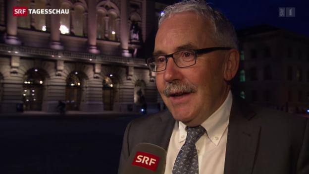 Video «Ex-BDP-Präsident Hans Grunder zum Rücktritt» abspielen