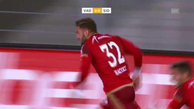 Video «Vaduz mit wichtigem Sieg gegen Sion» abspielen